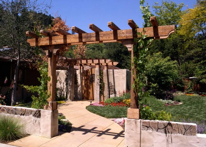 Garden designs and ideas pictures - European Tuscan Garden Feel For Garden With Arbors And Courtyard