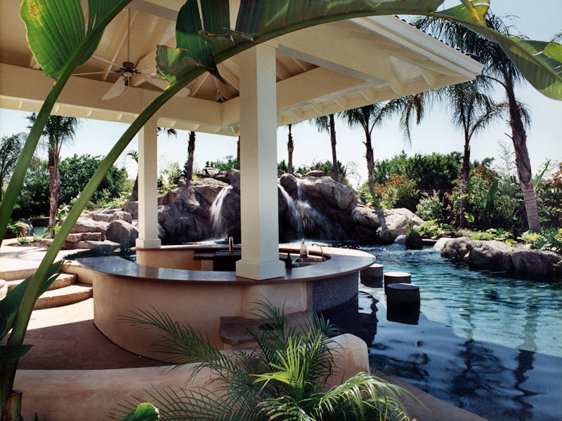 1000 images about stone swimmingpools and bars on for Pool design with swim up bar